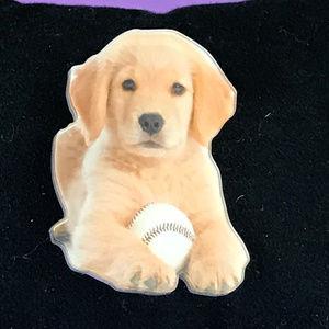 Used, Labrador Retriever Puppy Acrylic Pin Brooch for sale